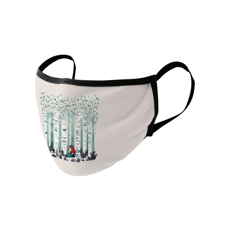The Birches Accessories Face Mask by Threadless Artist Shop
