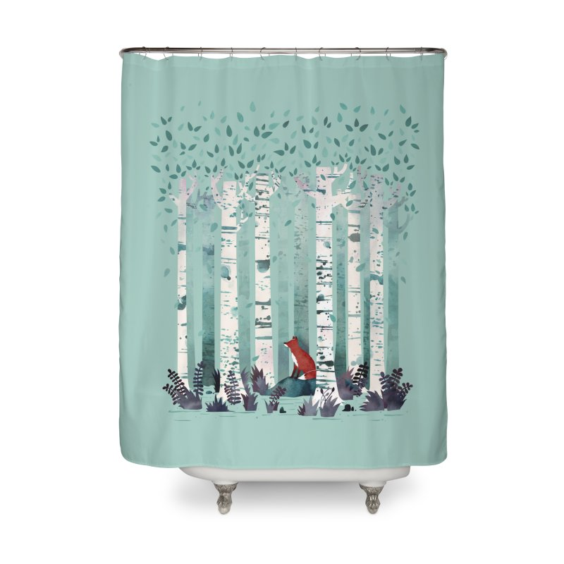 The Birches Home Shower Curtain by Threadless Artist Shop