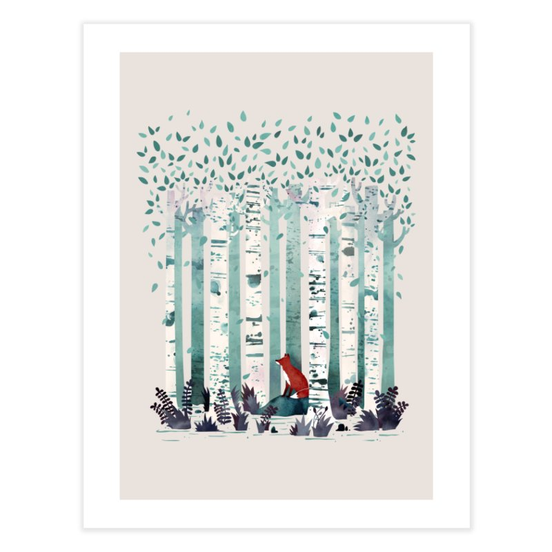 The Birches Home Fine Art Print by Threadless Artist Shop