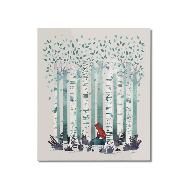 The Birches Home Mounted Acrylic Print by Threadless Artist Shop
