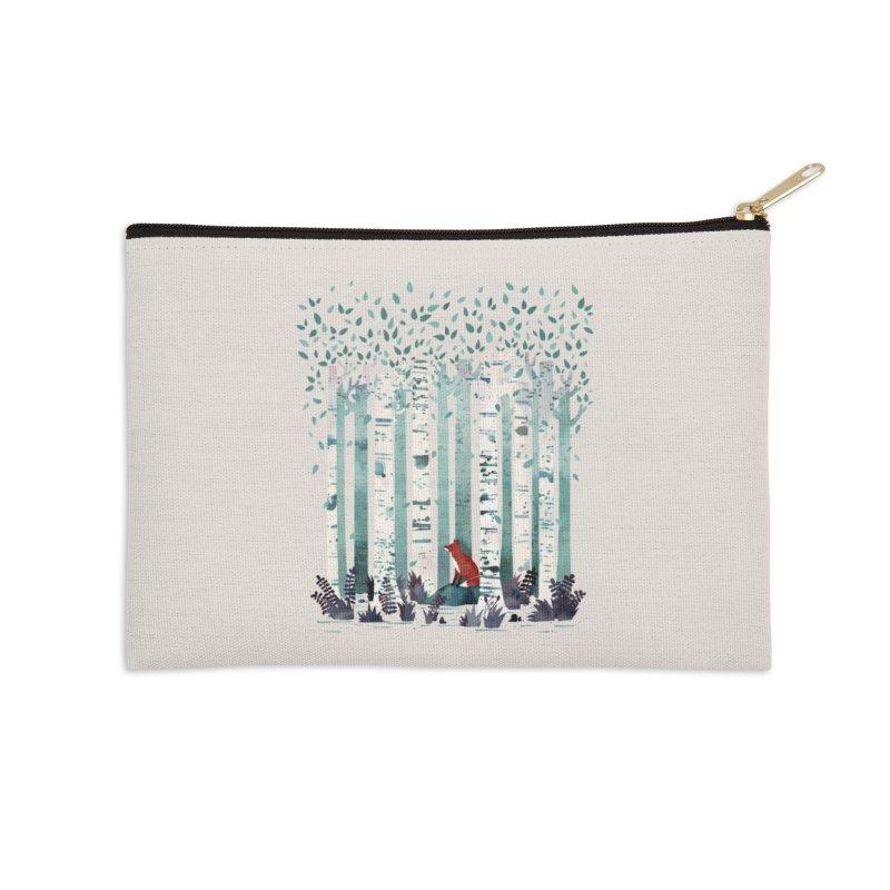 The Birches Accessories Zip Pouch by Threadless Artist Shop