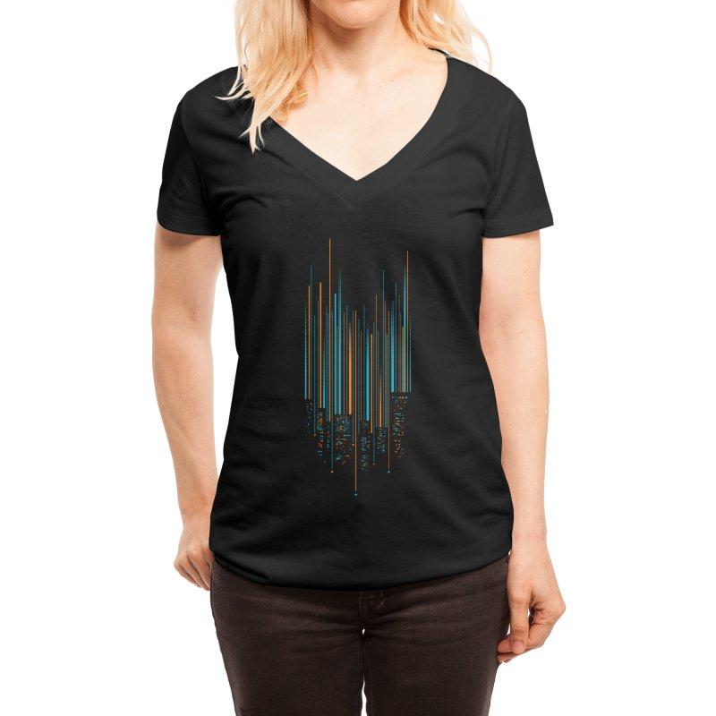 Urban Oscillations Women's V-Neck by Threadless Artist Shop