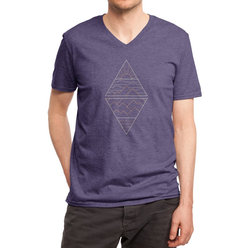 Earth, Air, Fire & Water Men's V-Neck by Threadless Artist Shop