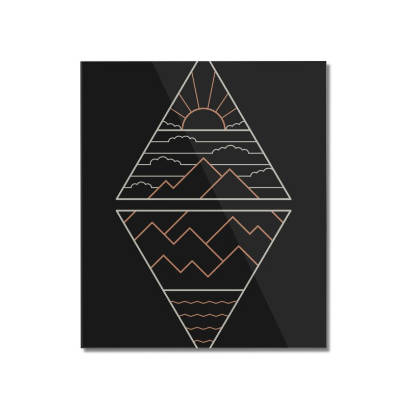 Earth, Air, Fire & Water Home Mounted Acrylic Print by Threadless Artist Shop