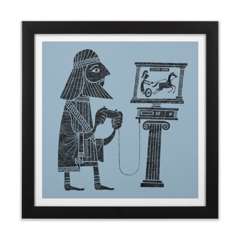 Classic Gamer Home Framed Fine Art Print by Threadless Artist Shop