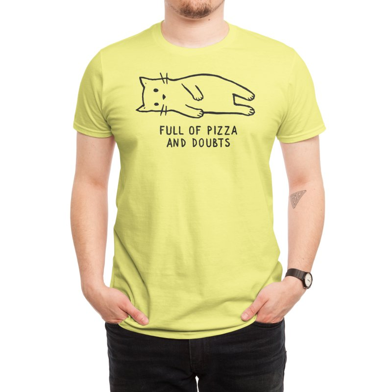 Full of Pizza and Doubts Men's T-Shirt by Threadless Artist Shop