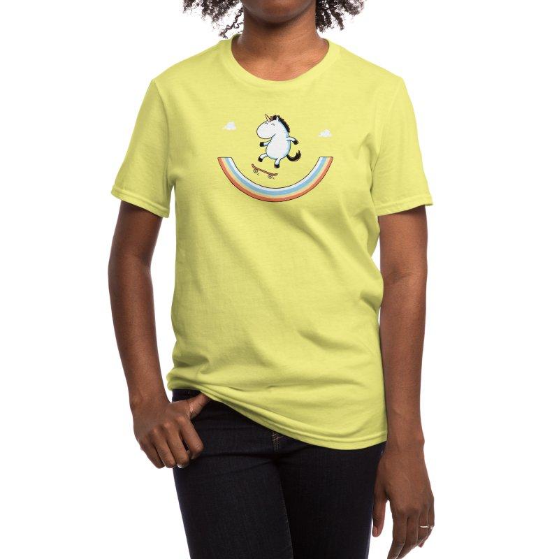 Rainbow Skate Women's T-Shirt by Threadless Artist Shop
