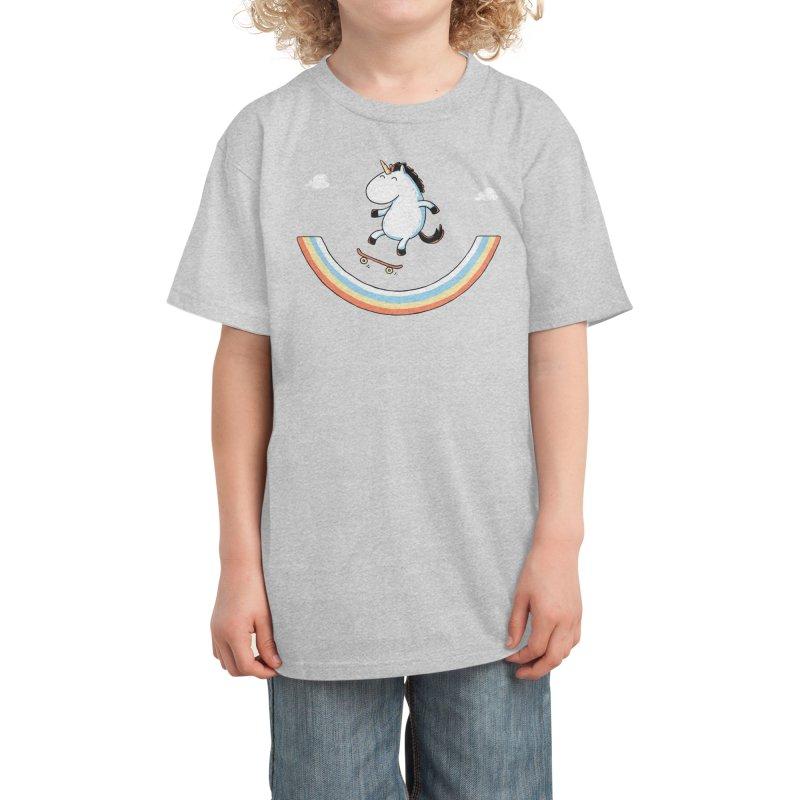 Rainbow Skate Kids T-Shirt by Threadless Artist Shop