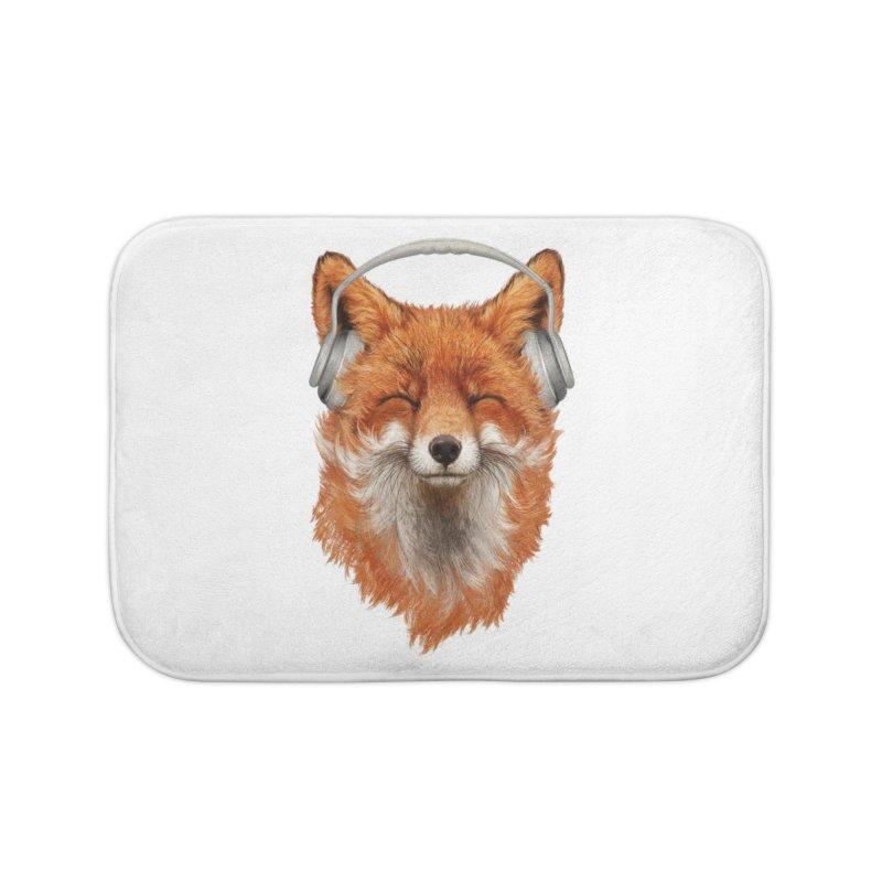 The Musical Fox Home Bath Mat by Threadless Artist Shop