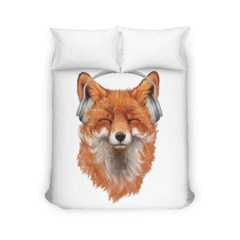 The Musical Fox Home Duvet by Threadless Artist Shop