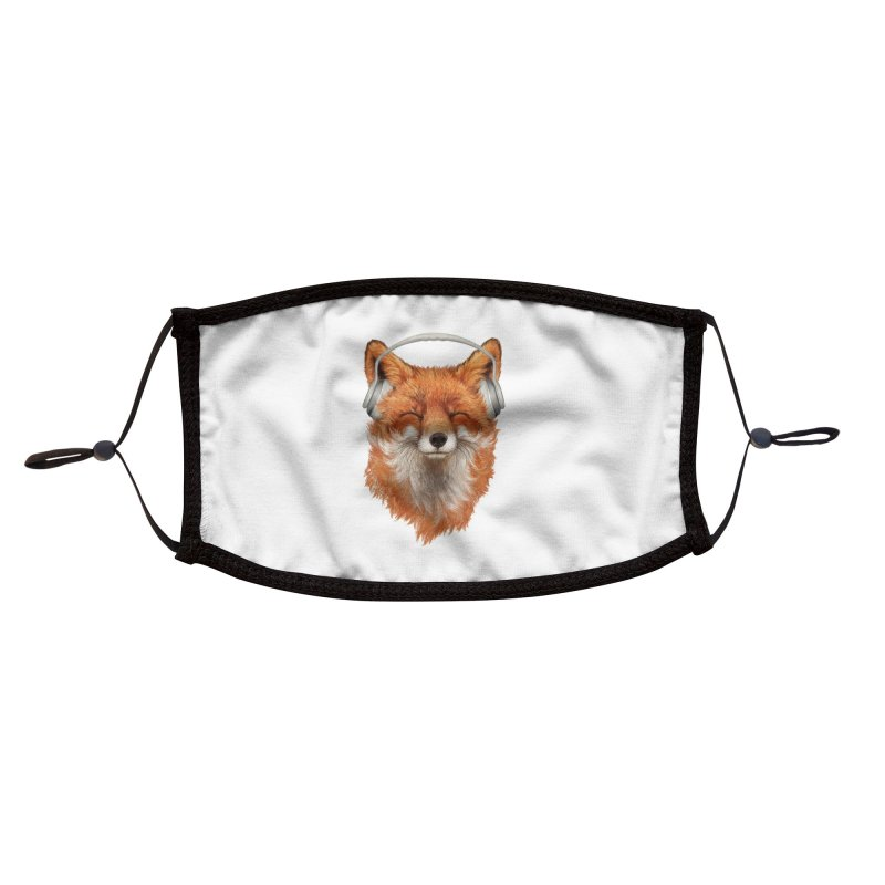 The Musical Fox Accessories Face Mask by Threadless Artist Shop