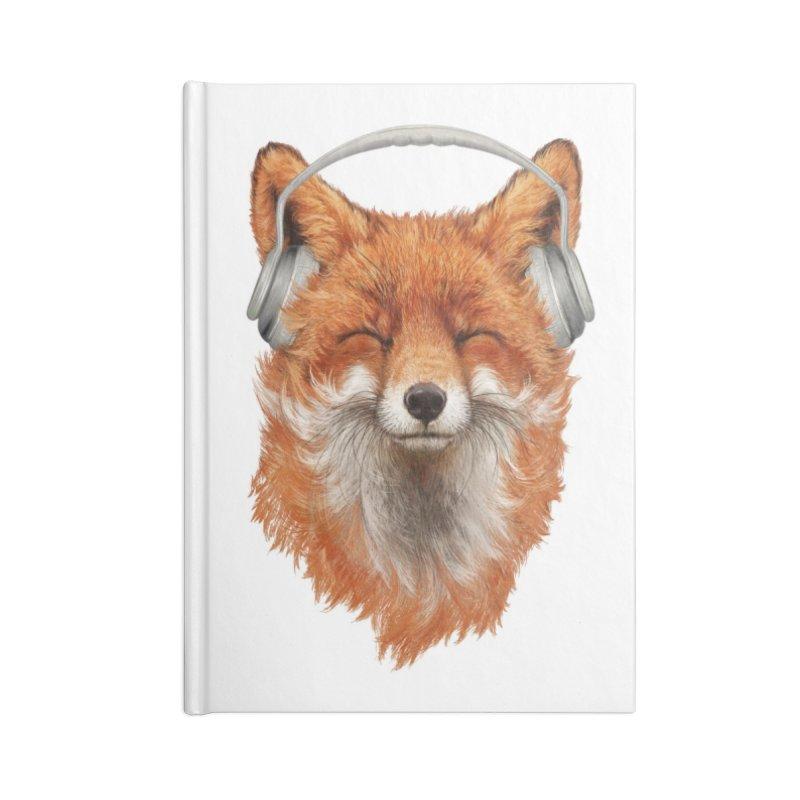 The Musical Fox Accessories Notebook by Threadless Artist Shop