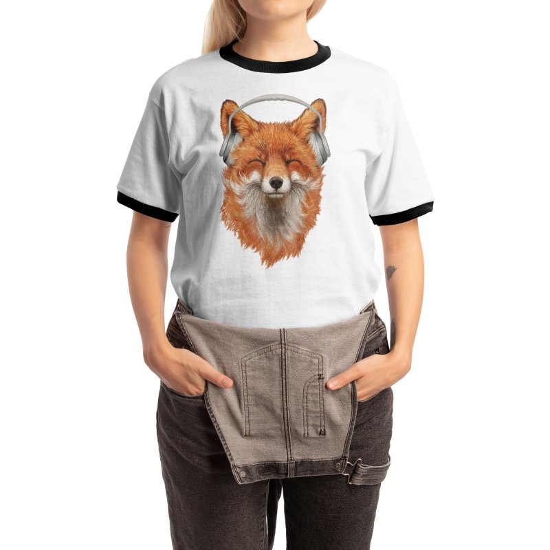The Musical Fox Women's T-Shirt by Threadless Artist Shop