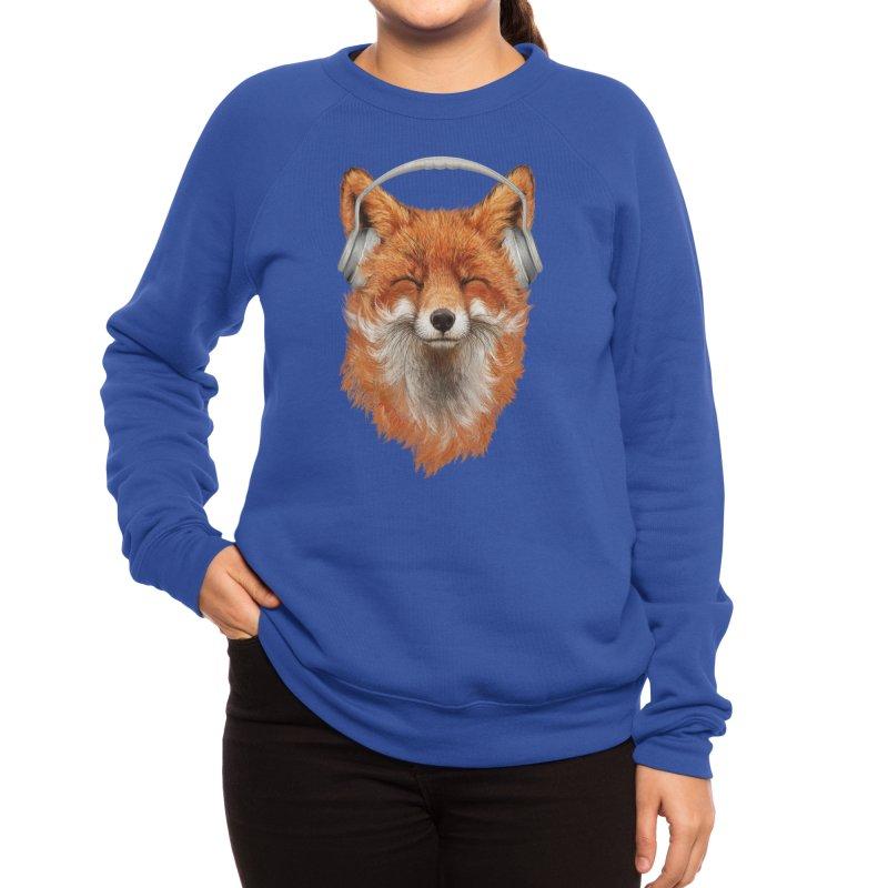 The Musical Fox Women's Sweatshirt by Threadless Artist Shop