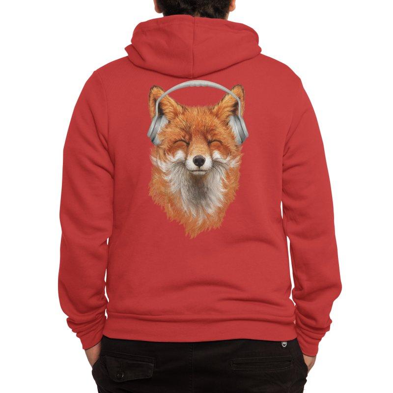 The Musical Fox Men's Zip-Up Hoody by Threadless Artist Shop