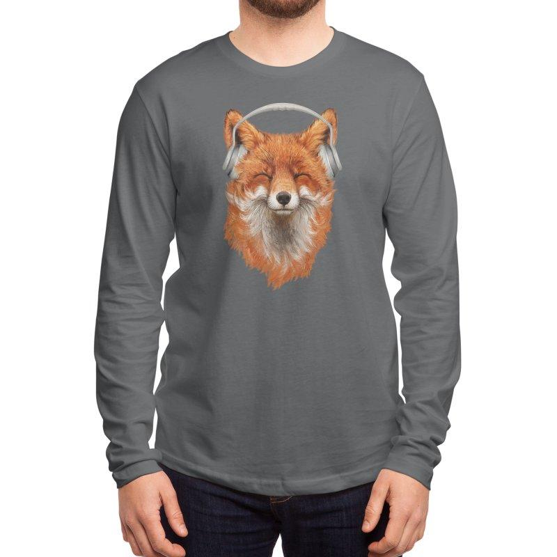 The Musical Fox Men's Longsleeve T-Shirt by Threadless Artist Shop