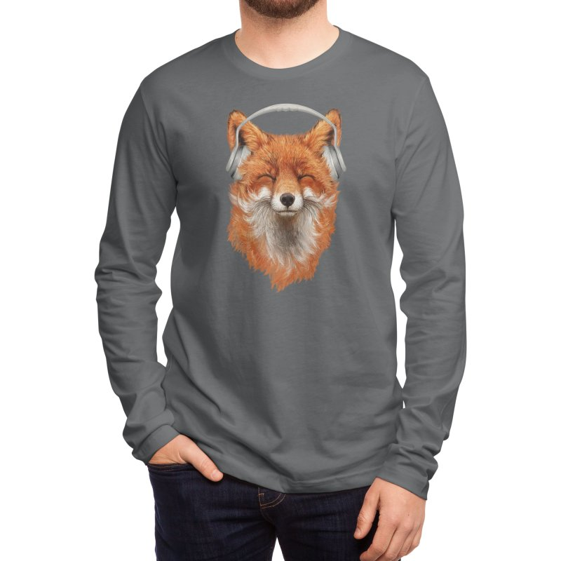 The Musical Fox Men's Longsleeve T-Shirt by Threadless Artist Shop