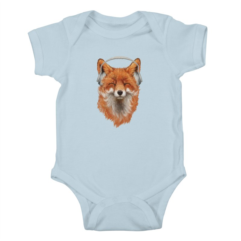 The Musical Fox Kids Baby Bodysuit by Threadless Artist Shop