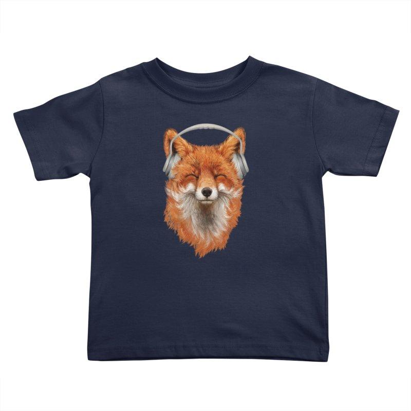 The Musical Fox Kids Toddler T-Shirt by Threadless Artist Shop
