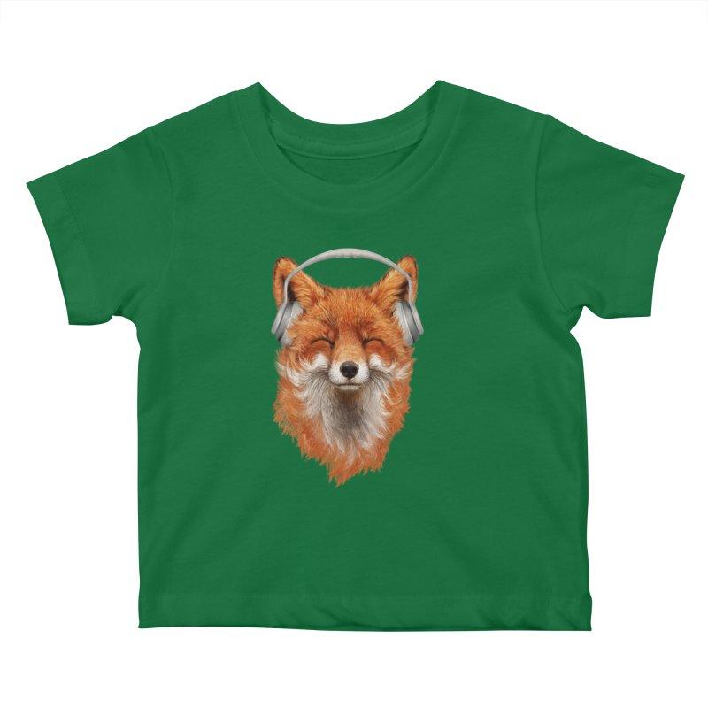 The Musical Fox Kids Baby T-Shirt by Threadless Artist Shop