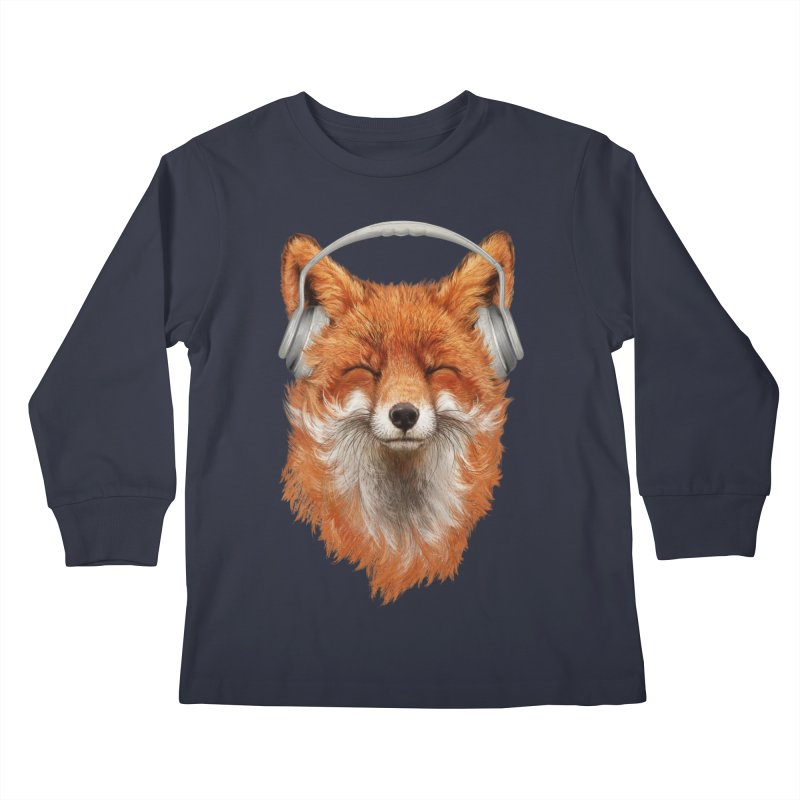 The Musical Fox Kids Longsleeve T-Shirt by Threadless Artist Shop