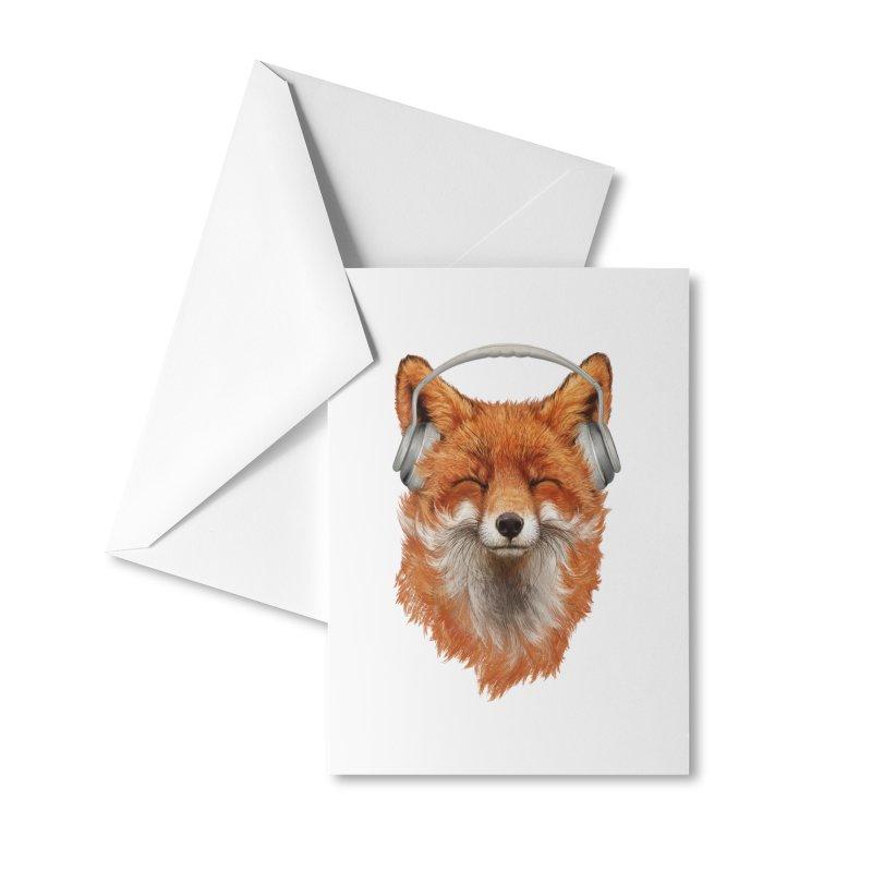 The Musical Fox Accessories Greeting Card by Threadless Artist Shop