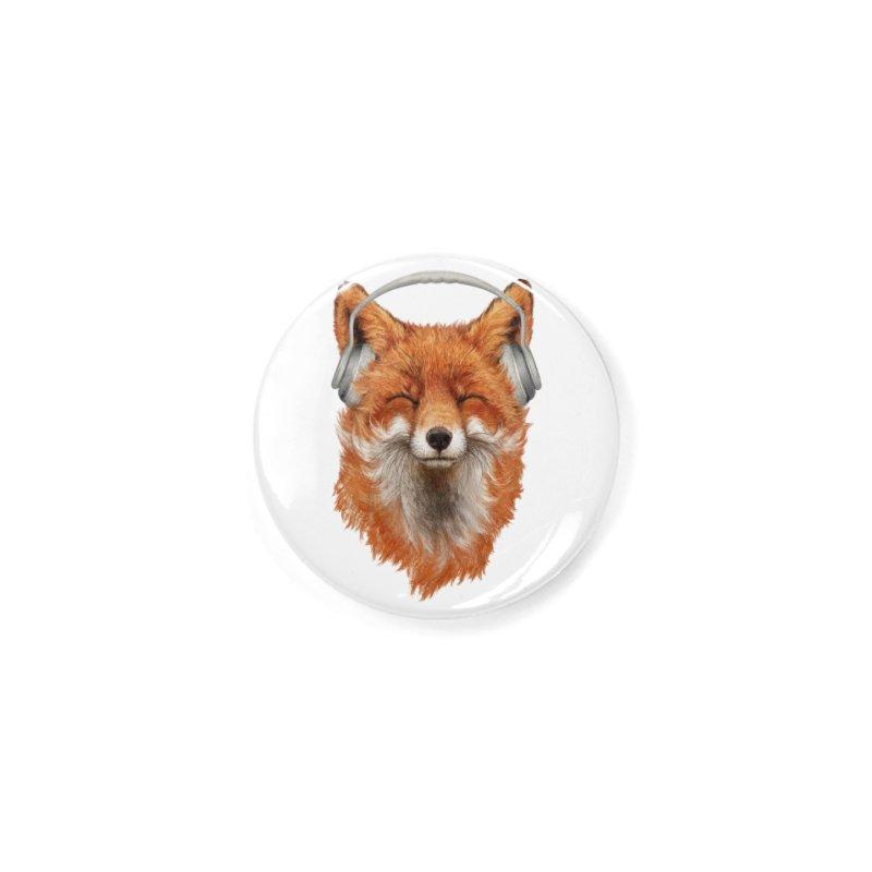 The Musical Fox Accessories Button by Threadless Artist Shop