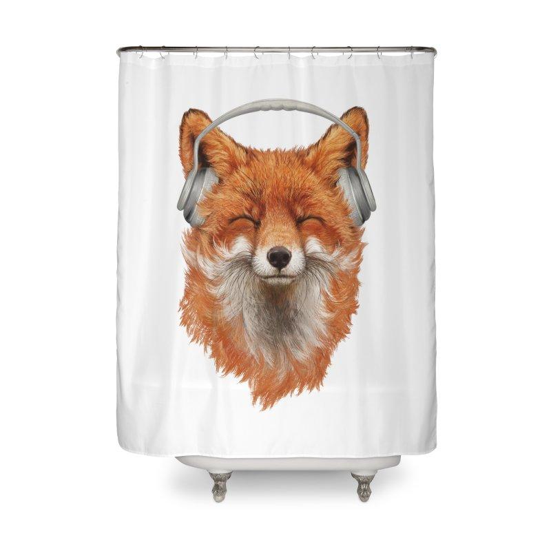 The Musical Fox Home Shower Curtain by Threadless Artist Shop