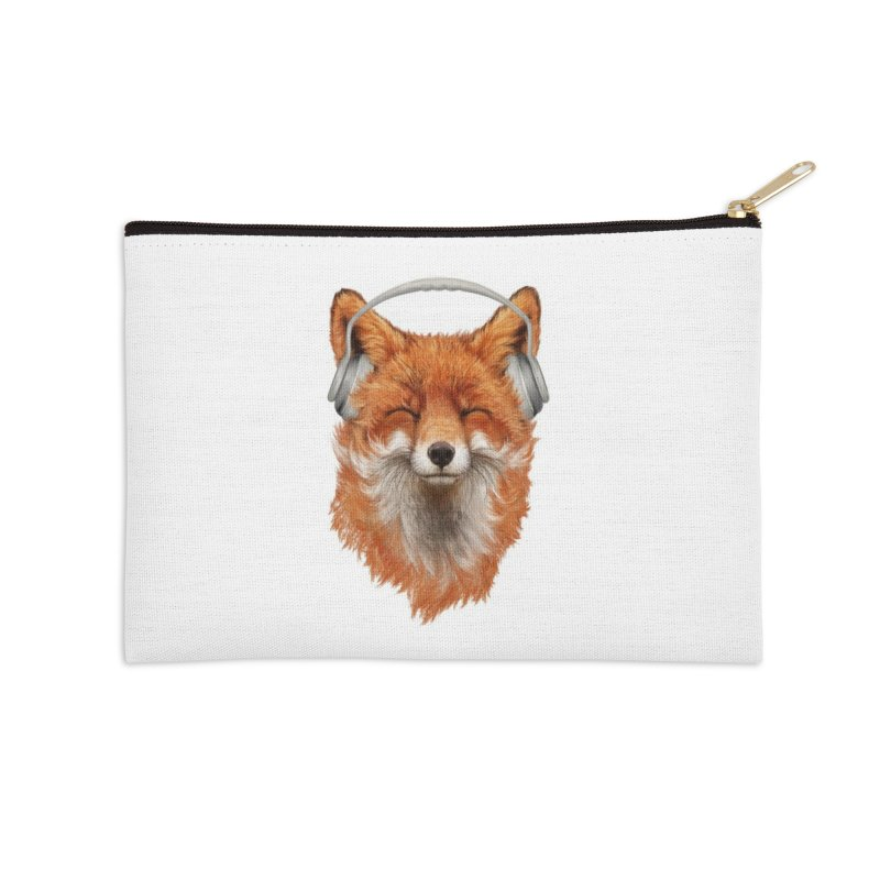 The Musical Fox Accessories Zip Pouch by Threadless Artist Shop