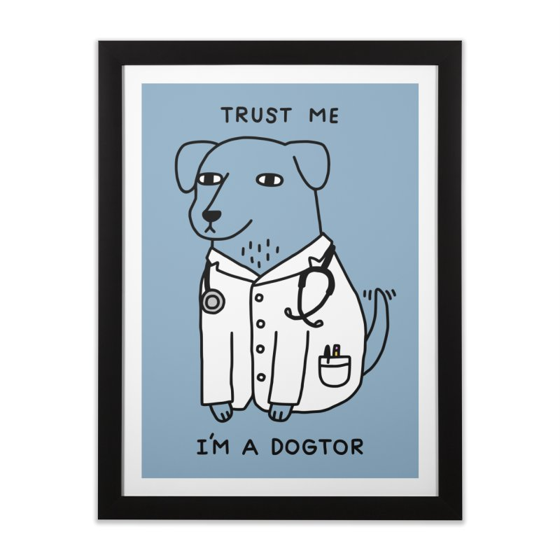 Dogtor Home Framed Fine Art Print by Threadless Artist Shop
