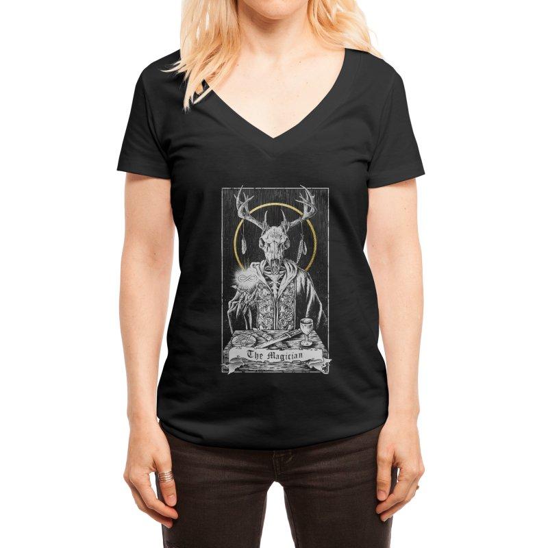 The Magician Women's V-Neck by Threadless Artist Shop