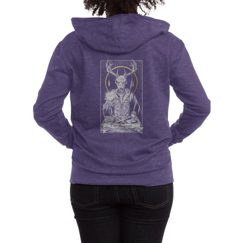The Magician Women's Zip-Up Hoody by Threadless Artist Shop