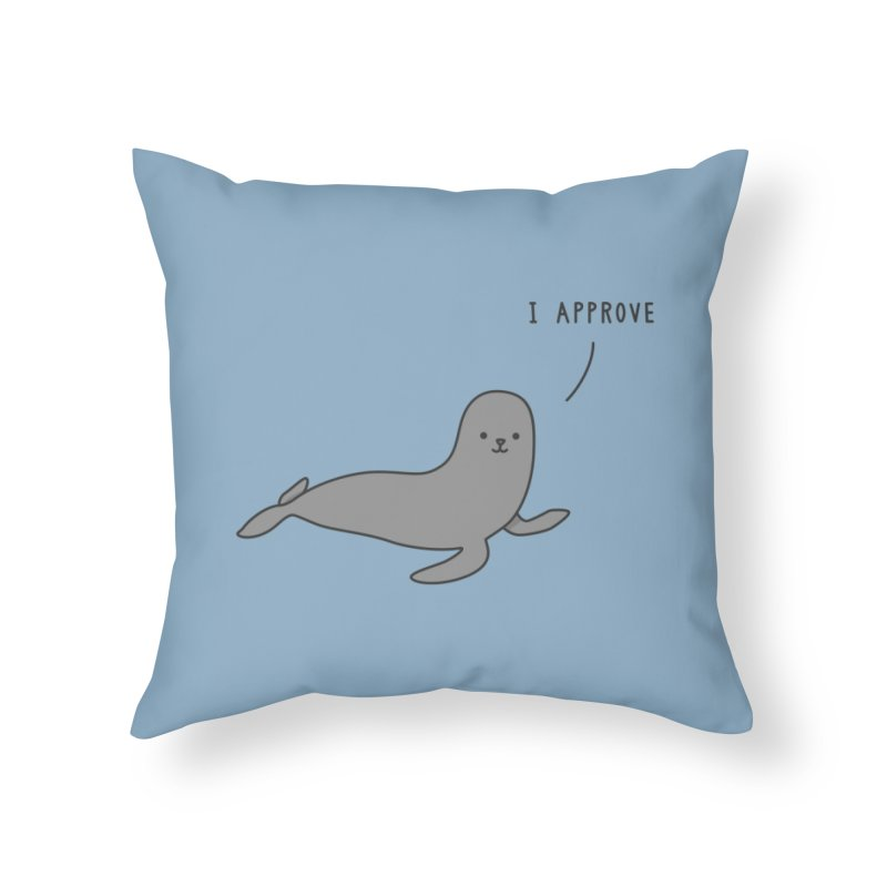 Seal of Approval - Jaco Haasbroek Home Throw Pillow by Threadless Artist Shop