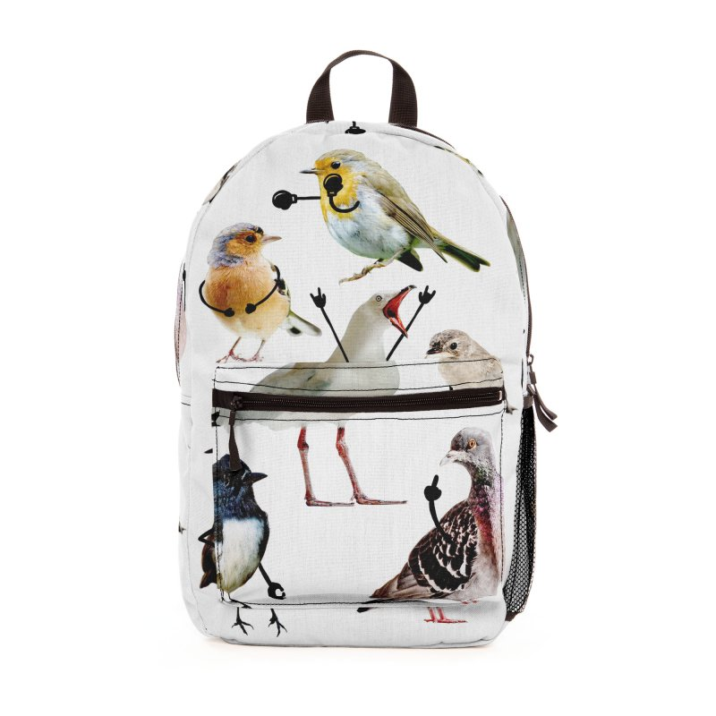 Birds with Arms Accessories Bag by Threadless Artist Shop