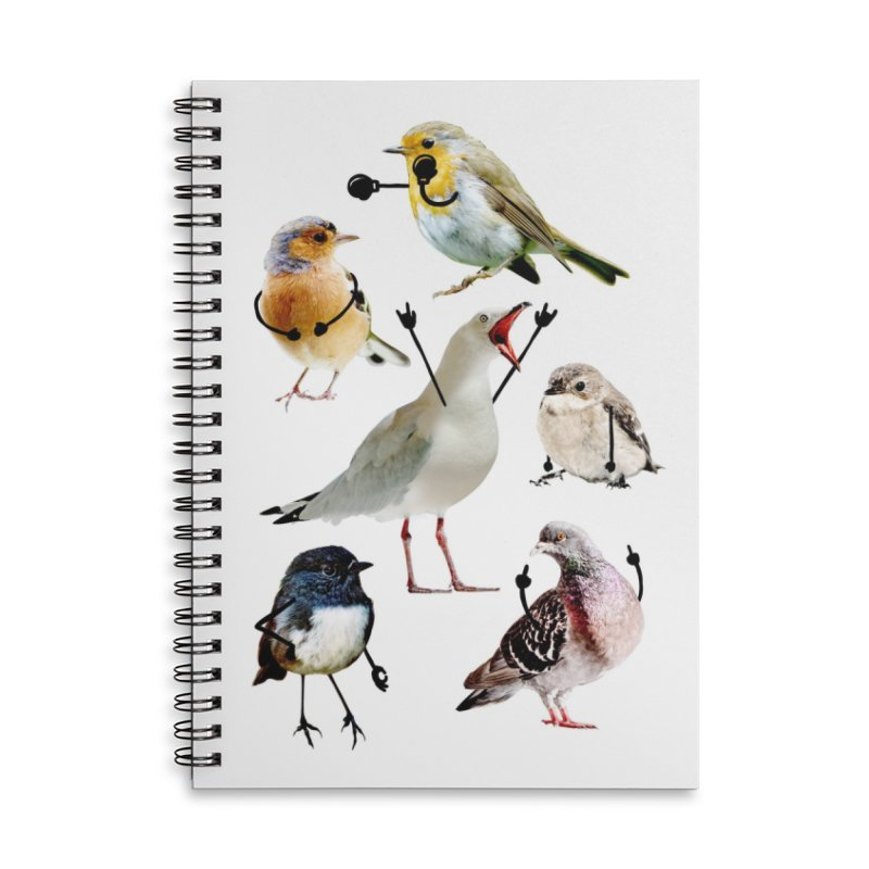 Birds with Arms Accessories Notebook by Threadless Artist Shop