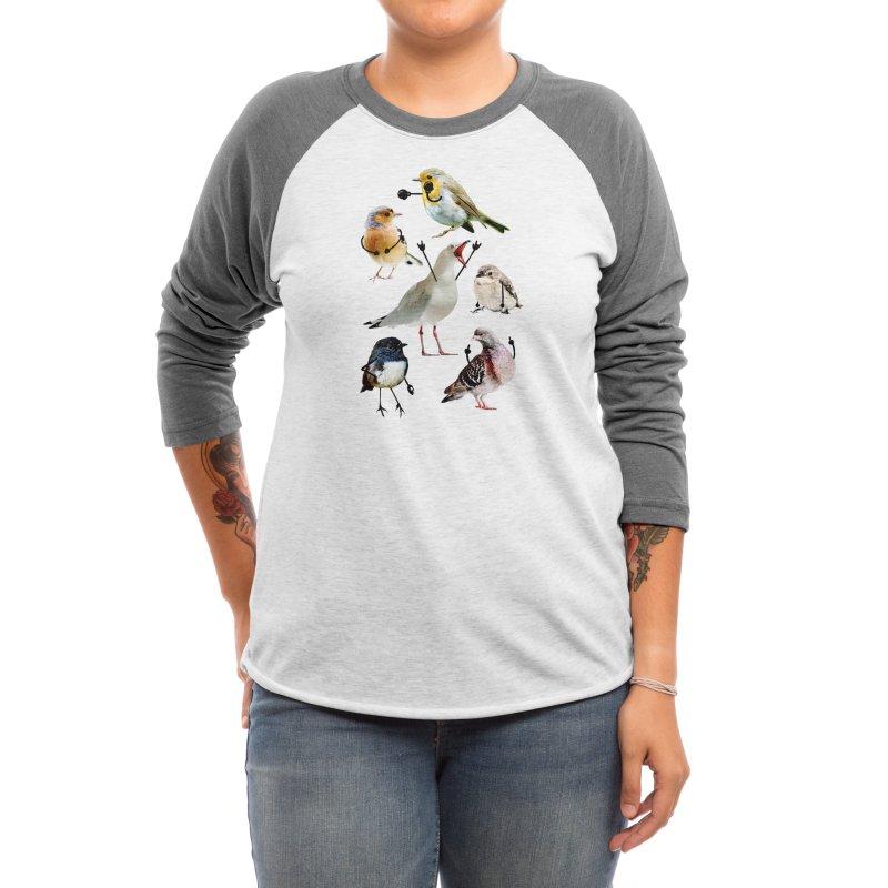 Birds with Arms Women's Longsleeve T-Shirt by Threadless Artist Shop