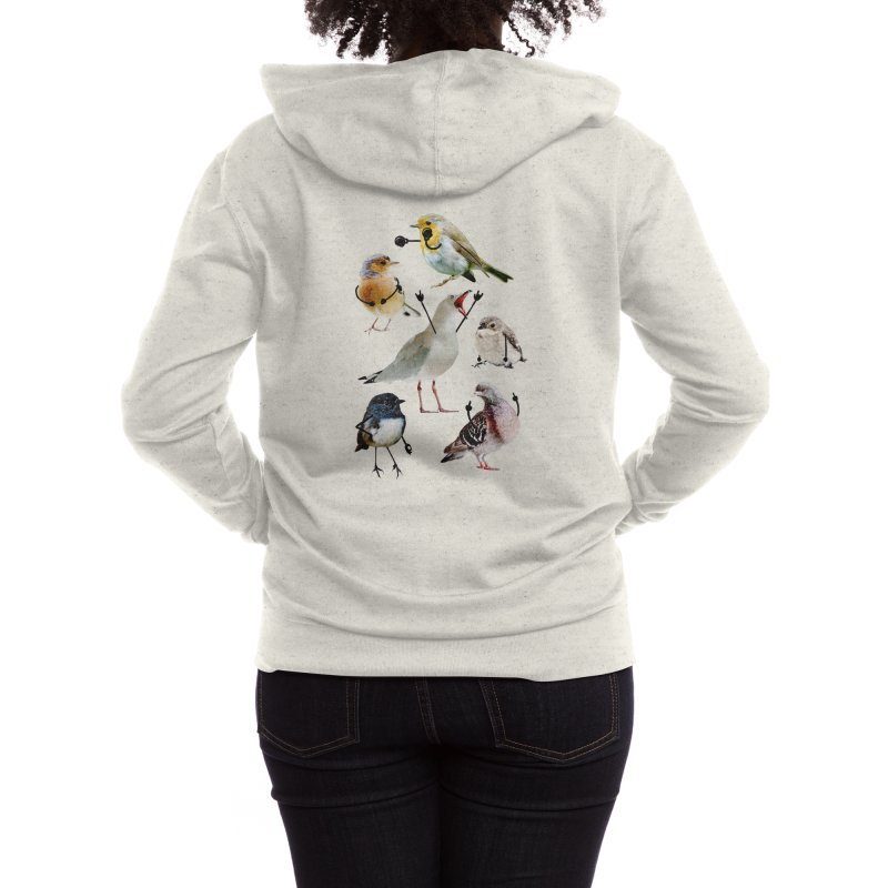 Birds with Arms Women's Zip-Up Hoody by Threadless Artist Shop