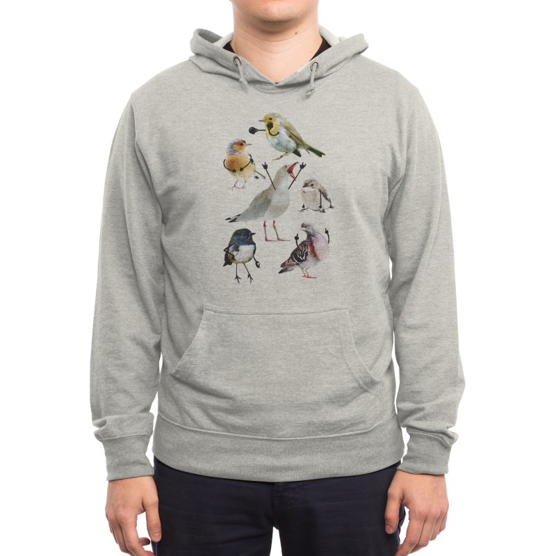Birds with Arms Men's Pullover Hoody by Threadless Artist Shop