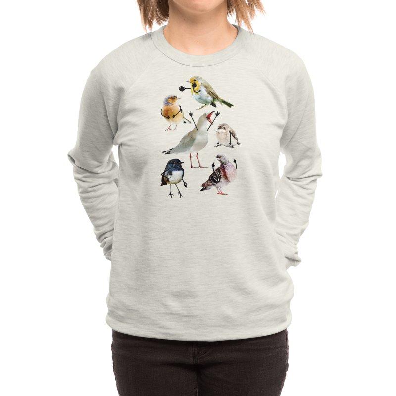 Birds with Arms Women's Sweatshirt by Threadless Artist Shop