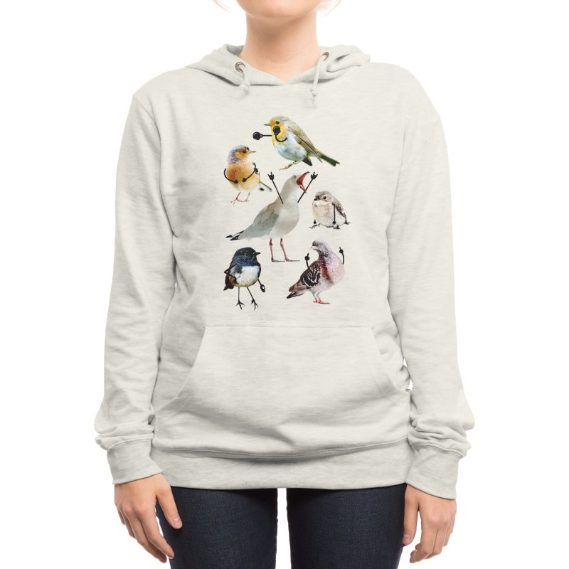 Birds with Arms Women's Pullover Hoody by Threadless Artist Shop