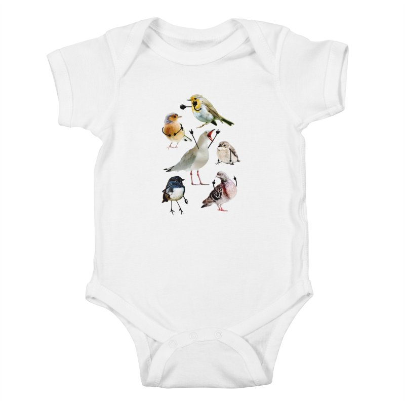 Birds with Arms Kids Baby Bodysuit by Threadless Artist Shop