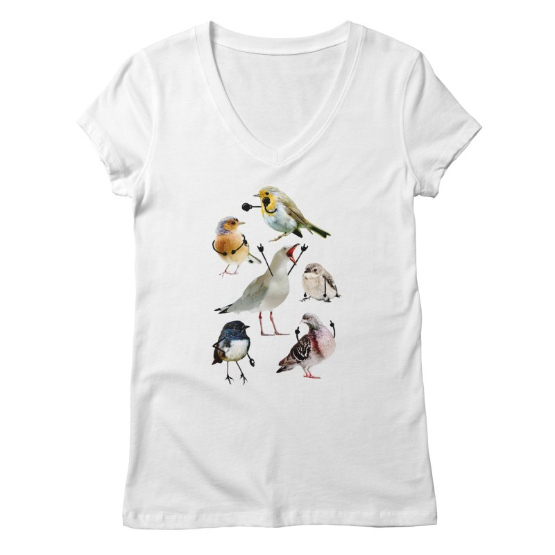 Birds with Arms Women's V-Neck by Threadless Artist Shop