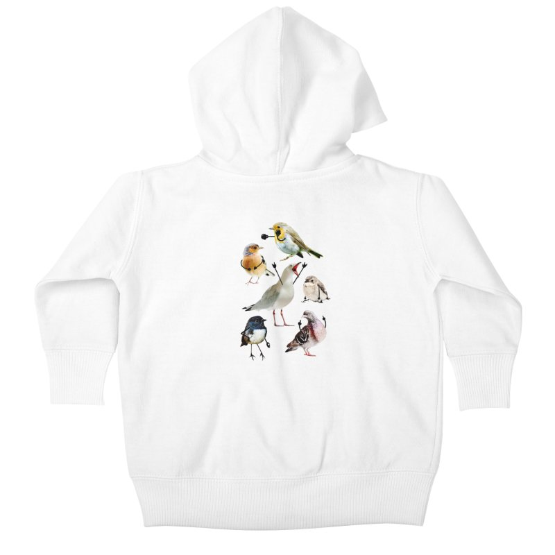 Birds with Arms Kids Baby Zip-Up Hoody by Threadless Artist Shop
