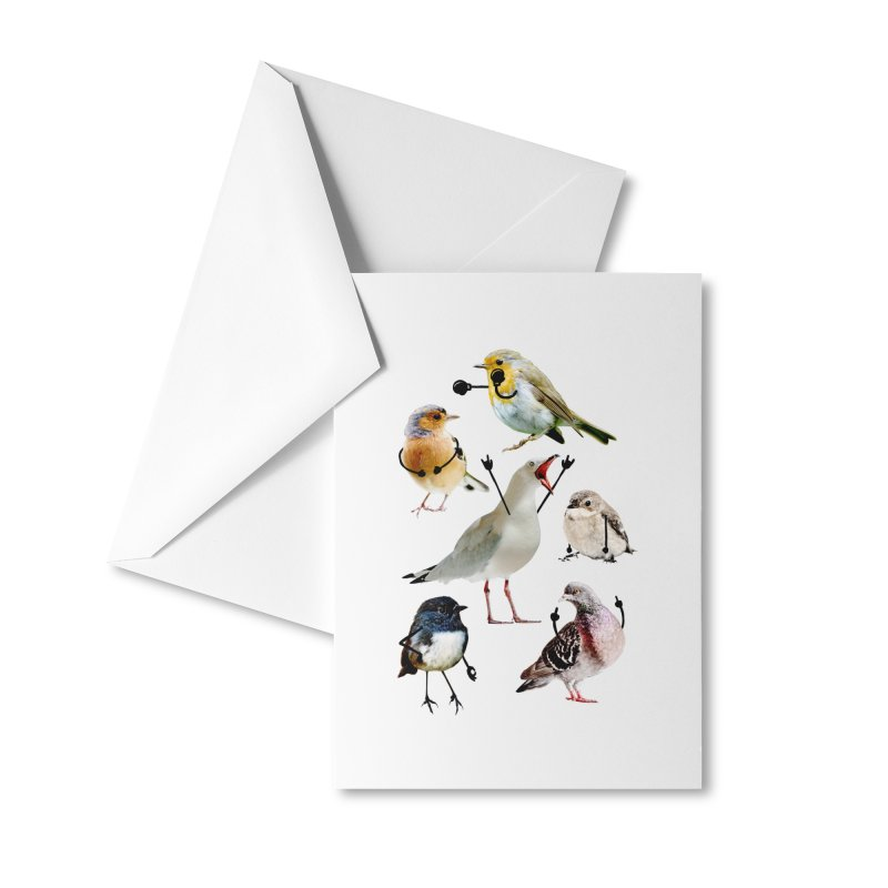 Birds with Arms Accessories Greeting Card by Threadless Artist Shop