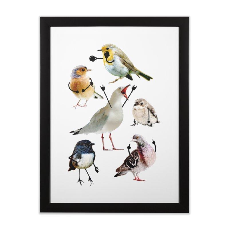 Birds with Arms Home Framed Fine Art Print by Threadless Artist Shop