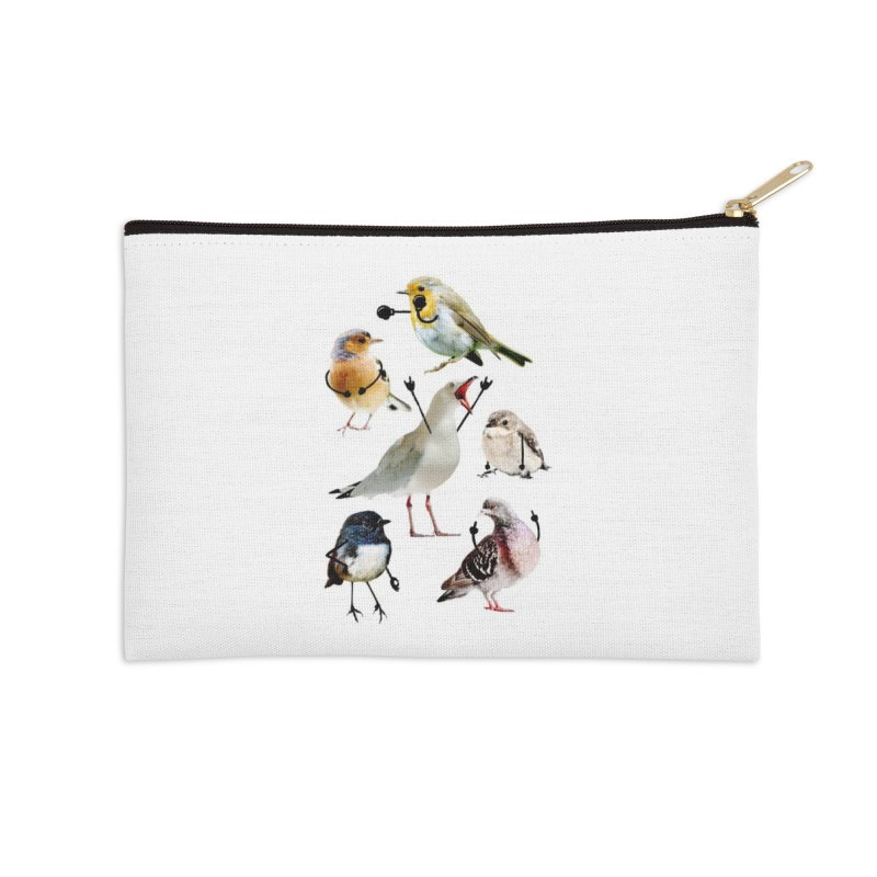 Birds with Arms Accessories Zip Pouch by Threadless Artist Shop