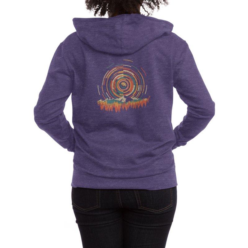 The Geometry of Sunrise Women's Zip-Up Hoody by Threadless Artist Shop