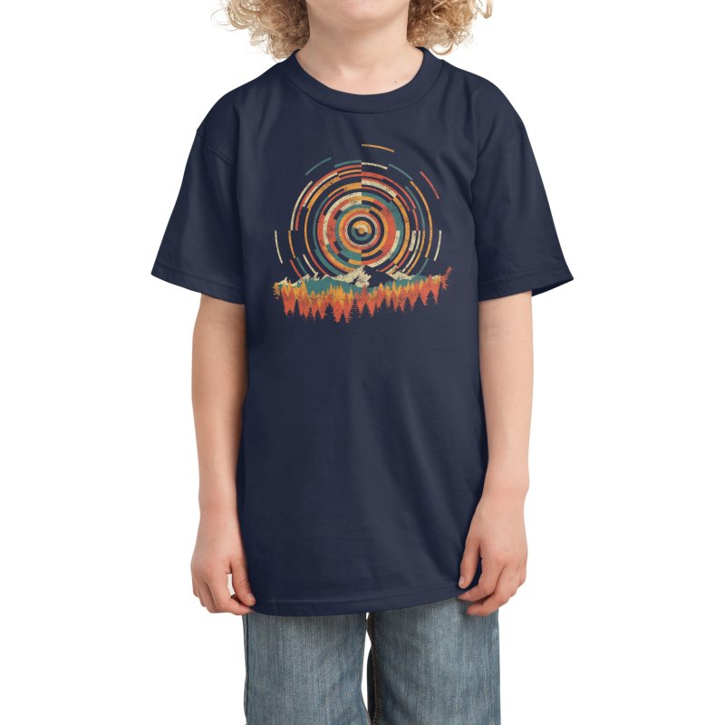 The Geometry of Sunrise Kids T-Shirt by Threadless Artist Shop