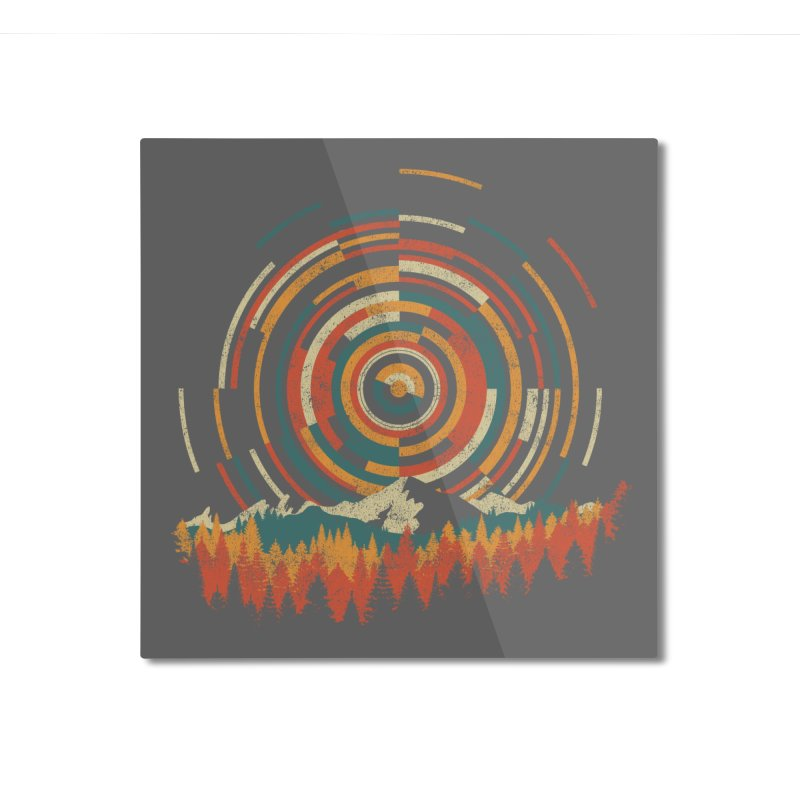 The Geometry of Sunrise Home Mounted Aluminum Print by Threadless Artist Shop