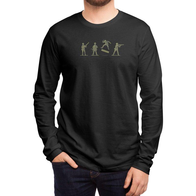 Khaki Kickflip Men's Longsleeve T-Shirt by Threadless Artist Shop